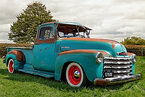 a truck that will receive antique truck restoration