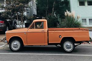 orange classic truck