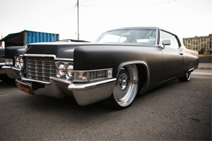 Cadillac with custom car body