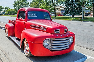 a ford truck that received classic truck restoration