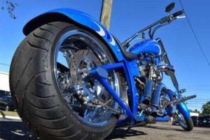 Custom paint job on a motorcycle