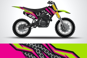 Green purple motorcycle paint pattern