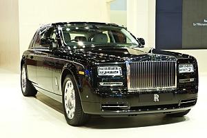 Rolls Royce Phantom on show room floor