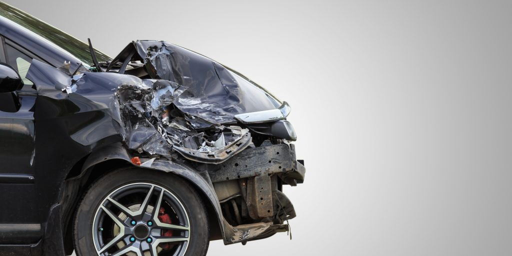 a damaged vehicle in need of collision repair