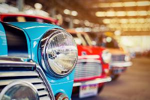 Buying a classic car, here is a range of classic cars in a row.