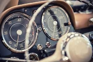 a classic car dashboard