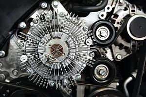 Engine Brackets on a custom auto body fabrication car