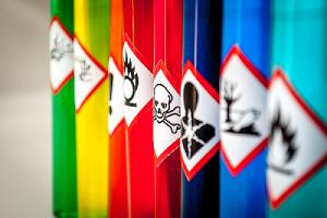 A pictogram of chemical hazardous substances. Most car restorations and repairs involve the use of hazardous chemicals