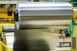 Aluminum coil in an industrial unit. Aluminum is widely preferred as car restoration sheet metal