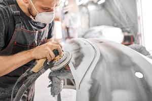 car restoration work in action