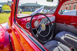 steering wheel on a truck