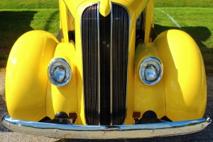 yellow truck that has been restored