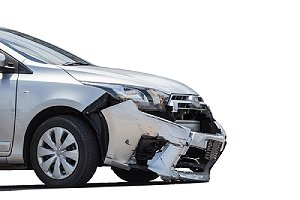 Car in the aftermath of an accident. An auto body specialist can swiftly repair potential issues
