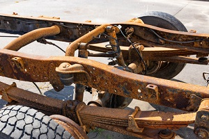Old Truck Rusted Frame needing repairing a rusted auto frame