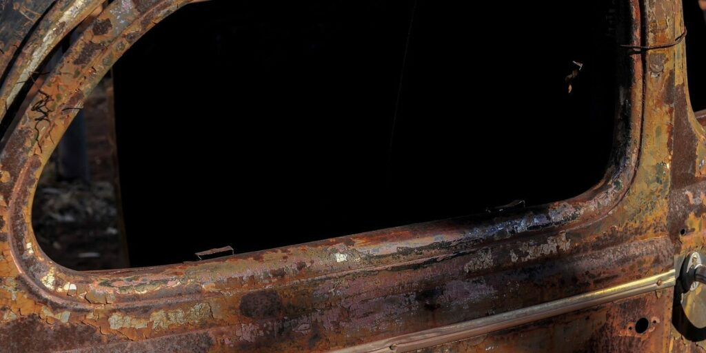 Repairing A Rusted Auto Frame- Vintage Car Rusted Frame