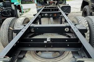 Bent Truck that needs truck frame repair width=