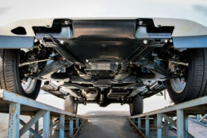 Large Truck Bottom View needing a truck frame repair