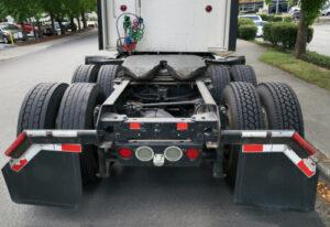 Truck Frame From Back needing a truck frame repair