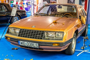 old retro classic ford mustang with fox body at warsaw motor show
