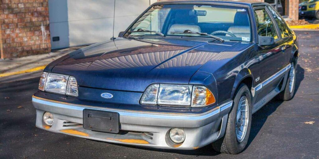 third generation fox body mustang was produced by ford